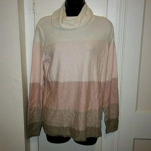 Croft&Barrow Pinks Soft Turtleneck Sweater